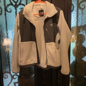 North Face White and Gray Jacket